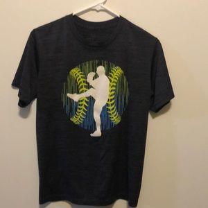Boys Large Tek Gear Baseball Graphic T-Shirt